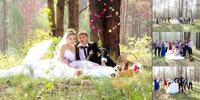התהליך של הפקת חתונה בטבע