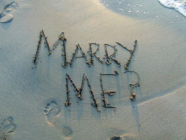 הצעות נישואין באוויר ביבשה ובים